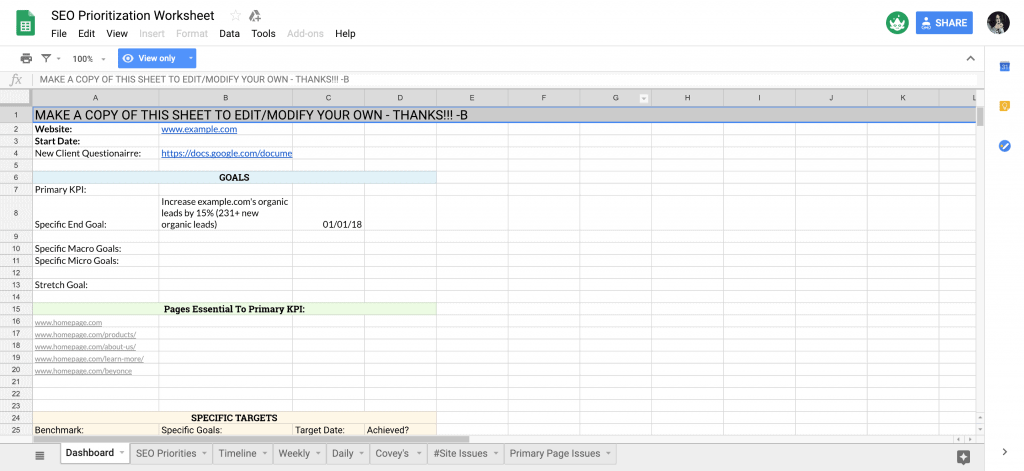 Project Management Templates In Google Sheets