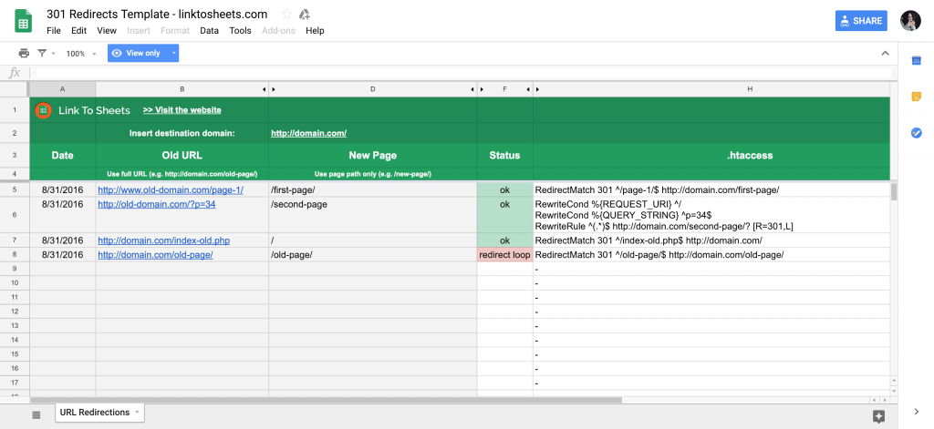 Technical SEO Audit Templates & Checklists in Google Sheets