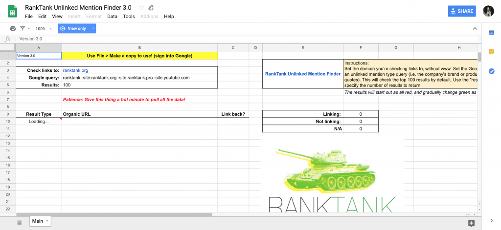 Link Building Tools in Google Sheets