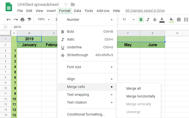 Merge Cells Under Format - 7 EASY STEPS HOW TO MERGE CELLS IN GOOGLE SHEETS